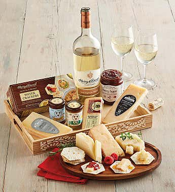 Cheese and Honey Tray with Wine