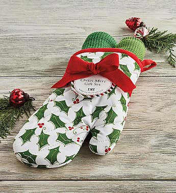 Holiday Oven Mitt Gift Set