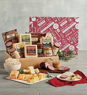 Grand Holiday Meat and Cheese Gift Box