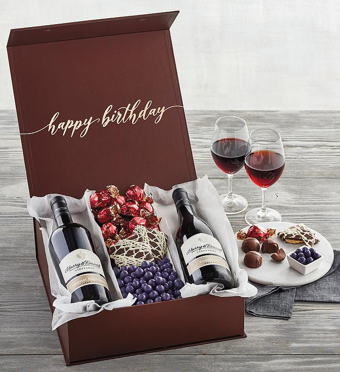 Elegant Birthday Wine Gift