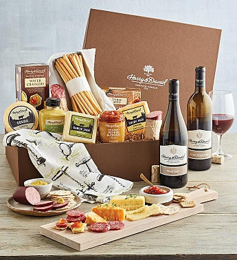 Meat, Cheese, and Wine Gift Box