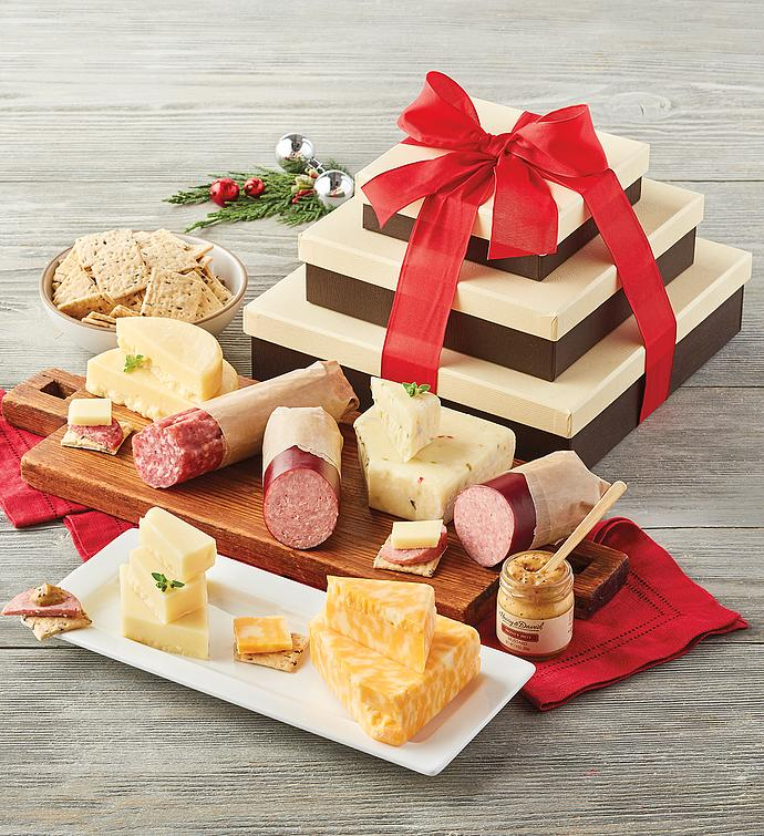 Meat and Cheese Gift Tower