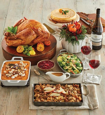 Turkey Feast with Harvest Centerpiece