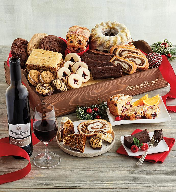Holiday Bakery Tray with Wine