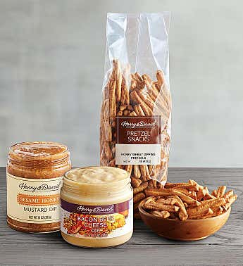 Honey Wheat Pretzels and Dips