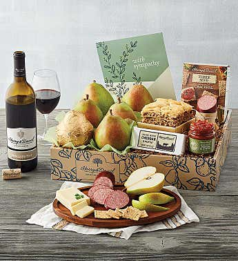 Classic Sympathy Gift Box with Wine