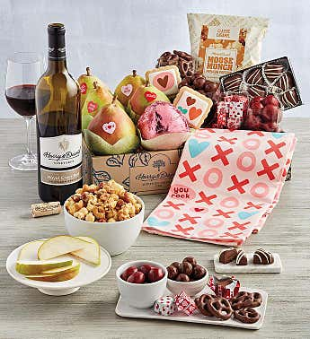 Grand Valentine's Day Gift Box with Wine