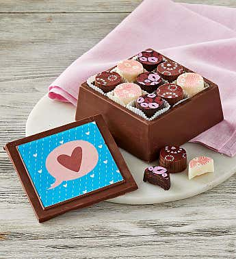 Mother's Day Artisan Truffles in Chocolate Box­