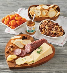 Heart-Shaped Charcuterie and Cheese Tray