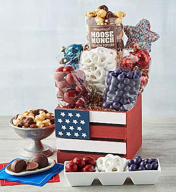 Red, White, and Blue Gift Box