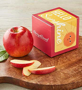 """Hello Sunshine"" Single Apple Gift"