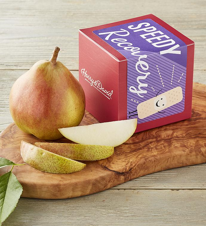 """Speedy Recovery"" Single Pear Gift"