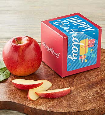 """Happy Birthday"" Single Apple Gift"