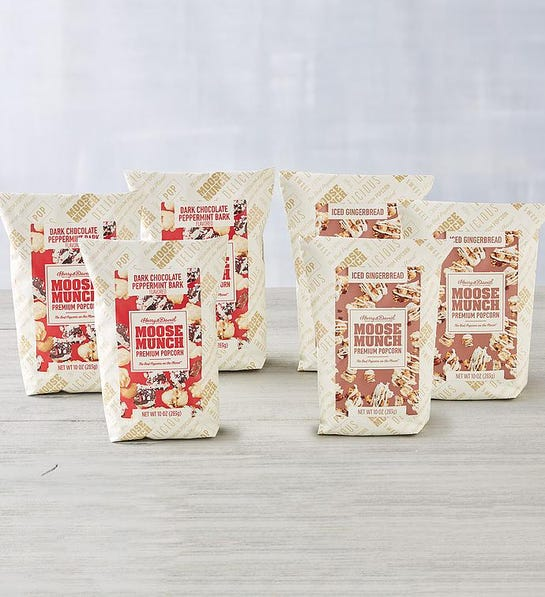 6-Pack Moose Munch Premium Popcorn Winter Flavors