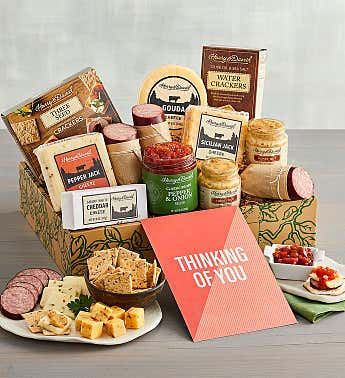 """Thinking of You"" Meat and Cheese Gift Box"