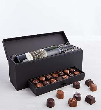 Simply Chocolate and Wine Gift Box