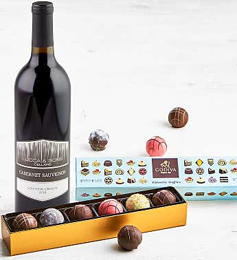 Godiva Patisserie Truffles with Wine