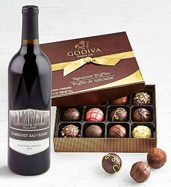 Godiva Signature Truffles with Wine