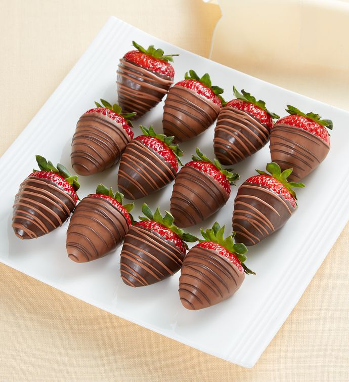 Sugar-Free Chocolate-Dipped Strawberries – 12 Count