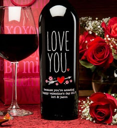 LOVE YOU Personalized Wine Bottle