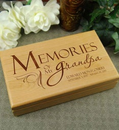 Memories of Grandpa Keepsake Box