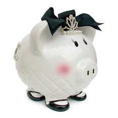 Personalized Hand-Painted  Queen B Piggy Bank