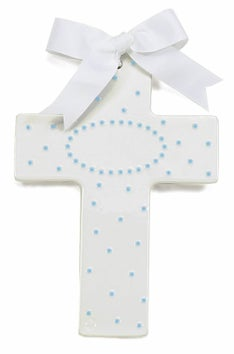 Personalized Sweet & Simple Cross - blue