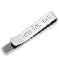 """Love You, Dad"" Hidden Message Tie Bar"