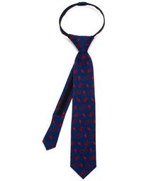 Harry Potter Navy Boys' Zipper Tie