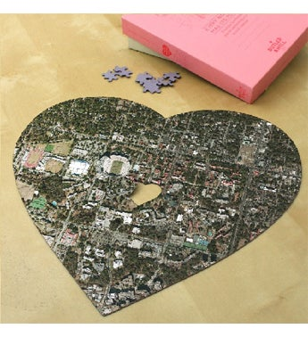 Aerial Heart Puzzle Map Jigsaw