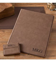 Personalized Portfolio & Business Card Case Set