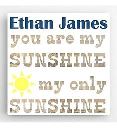 Personalized Sunshine Boy Canvas Sign