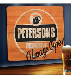 Always Open Personalized Wood Sign