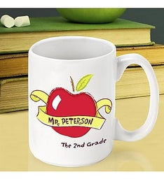 Personalized Big Apple Teacher Mug