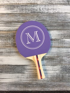 Customized Initial Circle Ping Pong Paddle