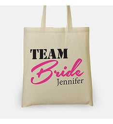 Personalized Team Bride Tote Bag