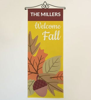 Personalized Welcome Fall Door Banner