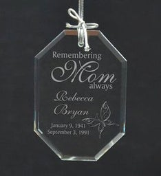 Personalized Remember Mom Ornament
