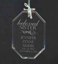Personalized Beloved Sister Ornament