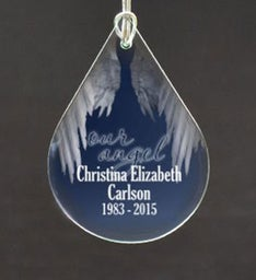Personalized Our Angel Tear Drop Ornament