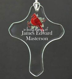 Personalized Loving Memory Cross Ornament