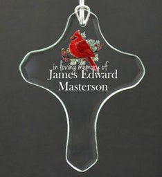 Personalized Cross Ornament
