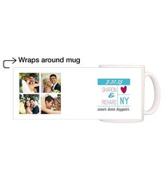 Personalized Heart Strings Magic Mug