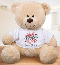 Personalized Happy Valentines Day Sherman Bear