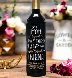 Forever Friend Personalized Wine Bottle