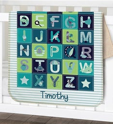Personalized Alphabet Sherpa Blanket