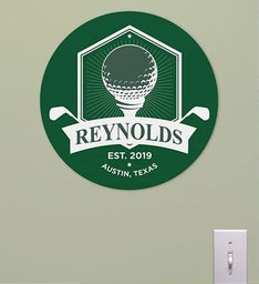 Personalized Golf Banner Round Sign