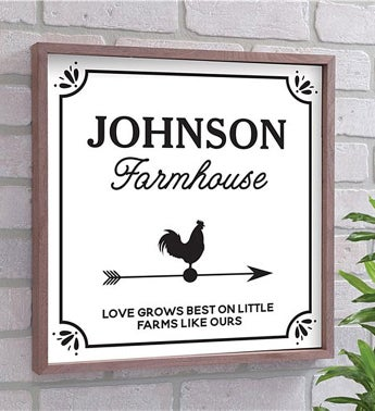 Personalized Love Grows Best Wall Décor