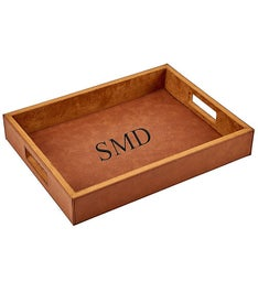 Personalized Leatherette Tray