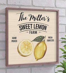 Personalized Sweet Lemon Farm Pallet Sign